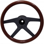 Universal wooden steering wheel